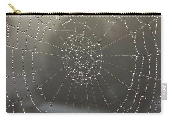 Spider Web With Morning Dew Carry-all Pouch