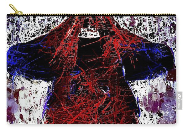 Carry-all Pouch featuring the mixed media Spiderman Hanging Around by Al Matra