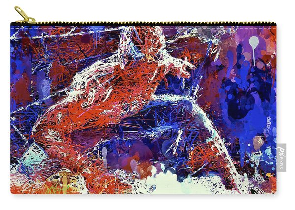 Carry-all Pouch featuring the mixed media Spiderman  by Al Matra