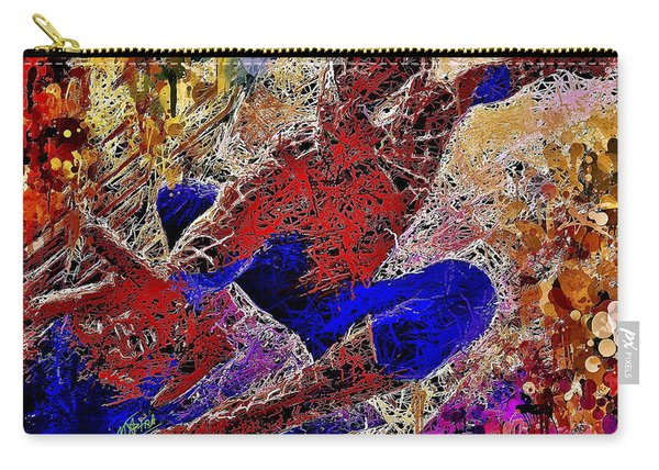 Carry-all Pouch featuring the mixed media Spiderman 2 by Al Matra