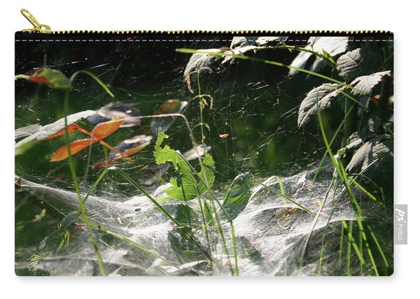 Spiderweb Over Rose Plants Carry-all Pouch