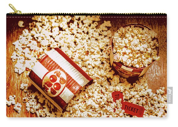 Spilt Tubs Of Popcorn And Movie Tickets Carry-all Pouch
