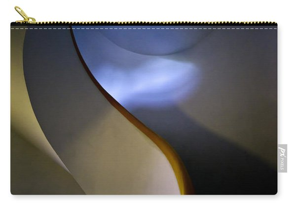 Carry-all Pouch featuring the photograph Spiral Concrete Modern Staircase by Jaroslaw Blaminsky