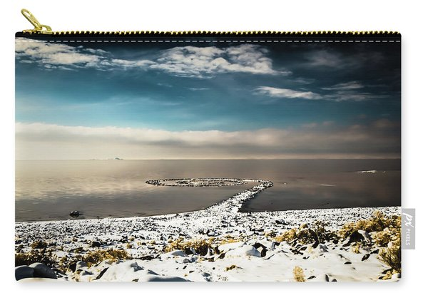 Spiral Jetty In Winter Carry-all Pouch