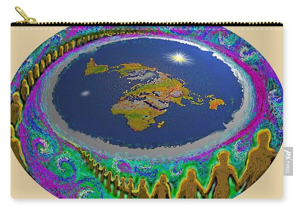 Spiral Of Souls Flat Earth Carry-all Pouch