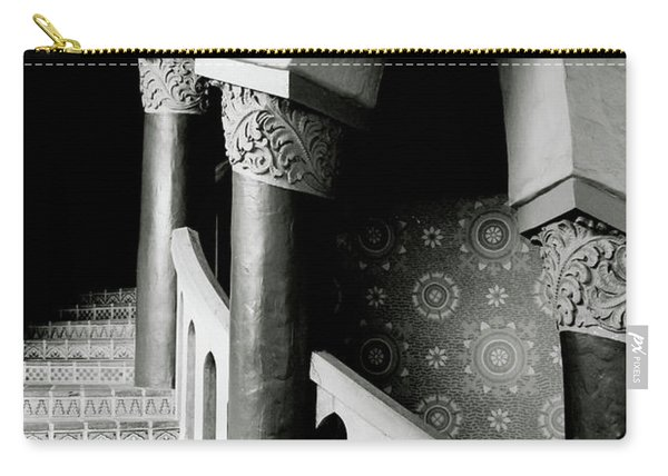 Spiral Stairs- Black And White Photo By Linda Woods Carry-all Pouch