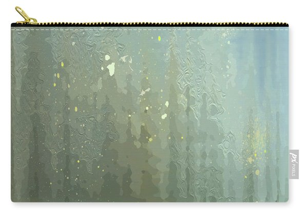 Carry-all Pouch featuring the digital art Spires Through A Window by Gina Harrison
