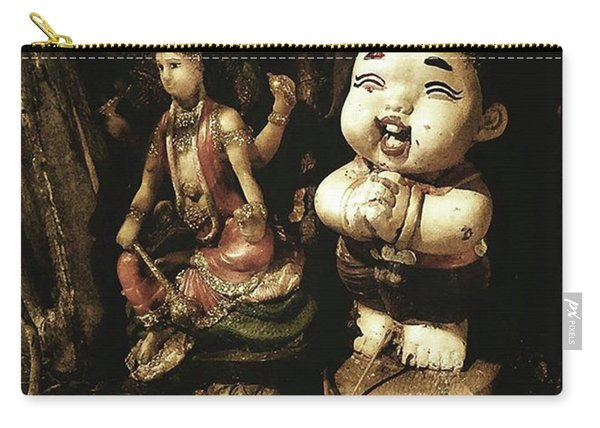 Carry-all Pouch featuring the photograph Spirit Cemetery. When A Business Or by Mr Photojimsf