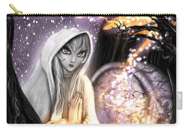 Carry-all Pouch featuring the painting Spiritual Ghost Fantasy Art by Raphael Lopez