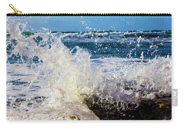 Wave Crash And Splash Carry-all Pouch