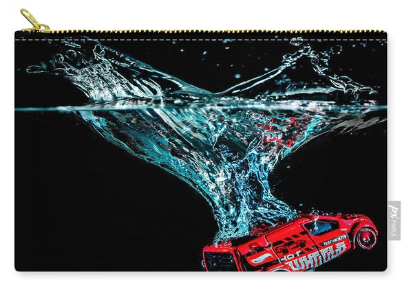 Carry-all Pouch featuring the photograph Splash Down by Nick Bywater