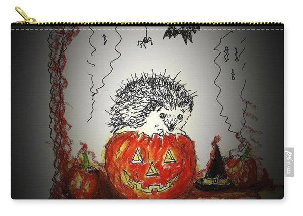 Spooky Hedgehog Halloween Carry-all Pouch