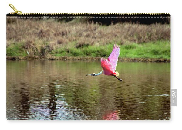 Spoonbill In Flight Carry-all Pouch