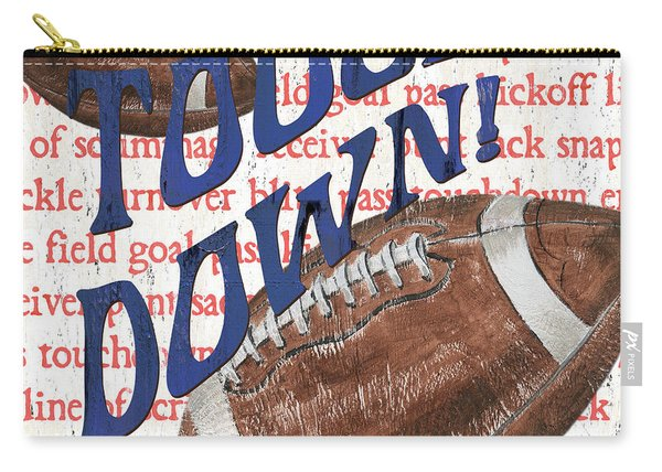 Sports Fan Football Carry-all Pouch