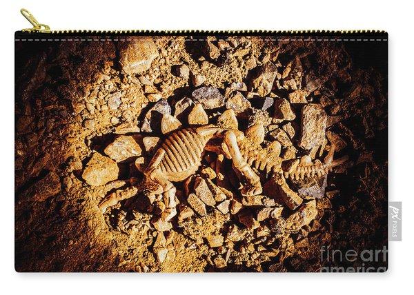 Spotlight On A Extinct Stegosaurus Carry-all Pouch