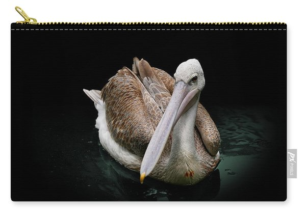 Spotlight On A Pink-backed Pelican Carry-all Pouch