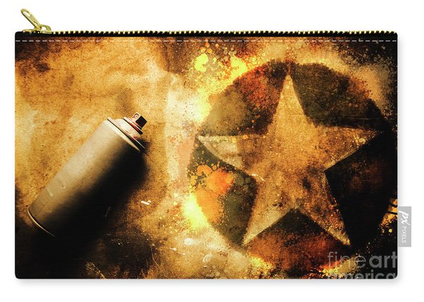 Spray Can With Army Star Graffiti Carry-all Pouch