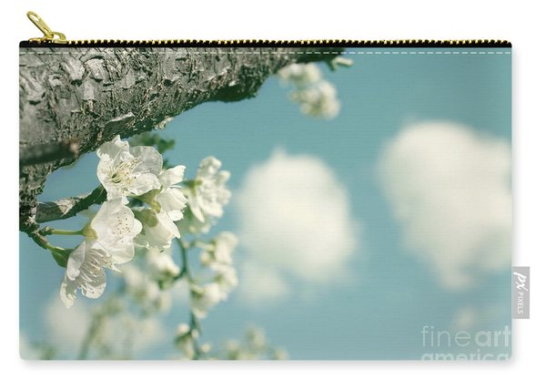 Spring Blossoms And Puffy Clouds Carry-all Pouch