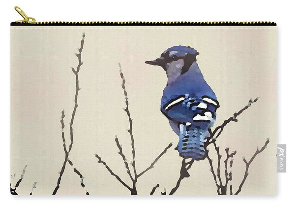 Spring Bluejay Carry-all Pouch