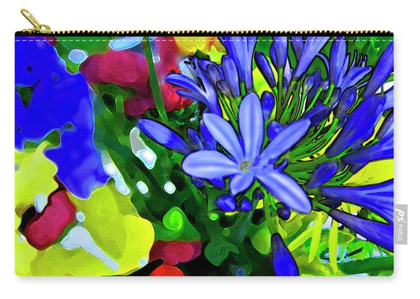 Carry-all Pouch featuring the digital art Spring Bouquet by Gina Harrison