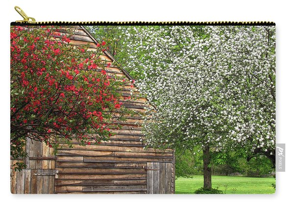Spring Flowers And The Barn Carry-all Pouch