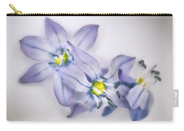 Spring Flowers On White Carry-all Pouch