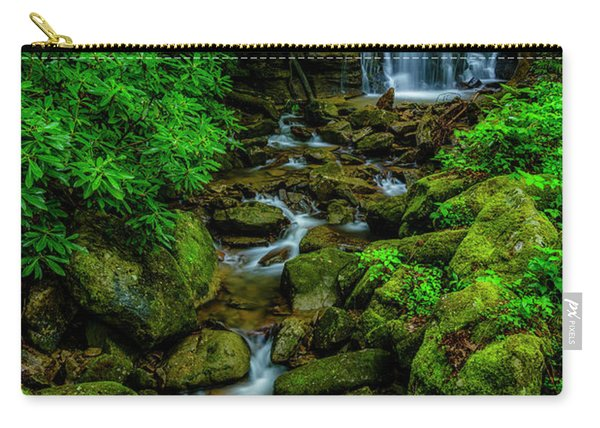 Spring Green Waterfall And Rhododendron Carry-all Pouch
