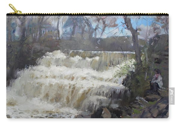 Spring In Williamsville Falls Carry-all Pouch