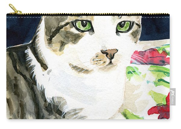 Spring Is In The Air - Cat Painting Carry-all Pouch