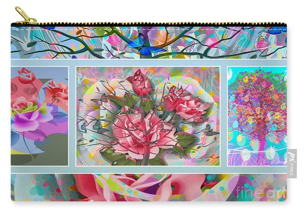 Carry-all Pouch featuring the digital art Spring Medley by Eleni Mac Synodinos