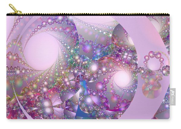 Spring Moon Bubble Fractal Carry-all Pouch
