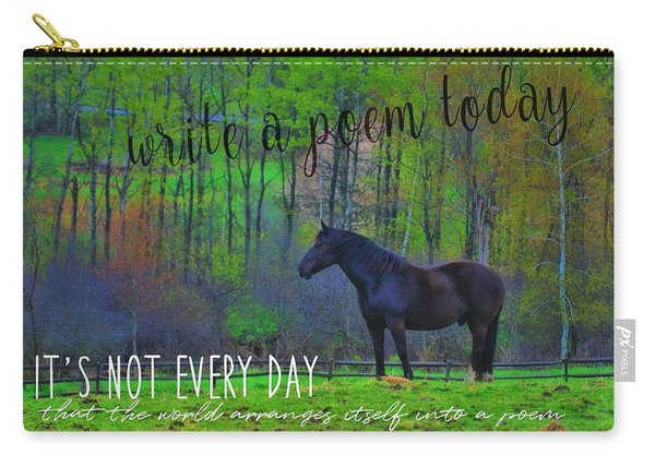 Spring Pasture Quote Carry-all Pouch