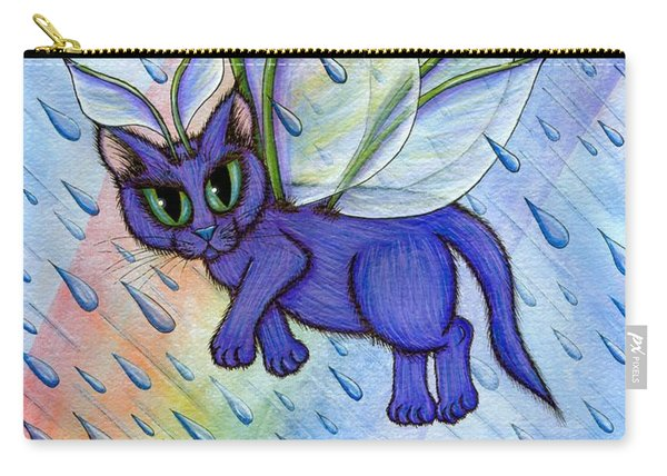 Spring Showers Fairy Cat Carry-all Pouch