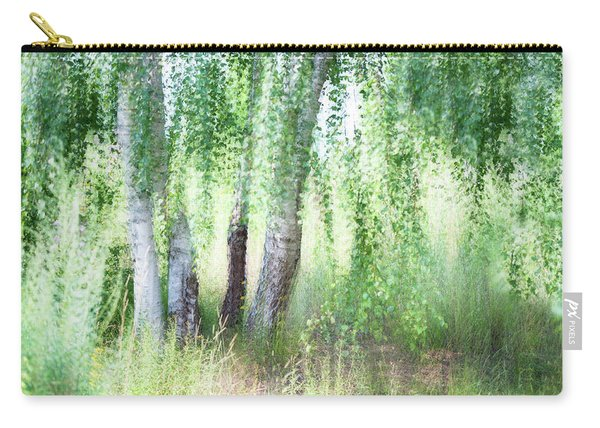 Spring Wind In Birch Grove Carry-all Pouch