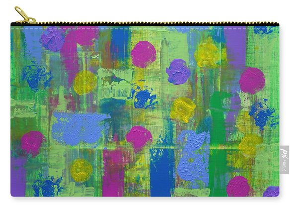 Carry-all Pouch featuring the painting Springtime Abstract by Jimmy Clark