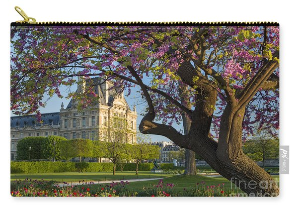 Carry-all Pouch featuring the photograph Springtime In Paris by Brian Jannsen
