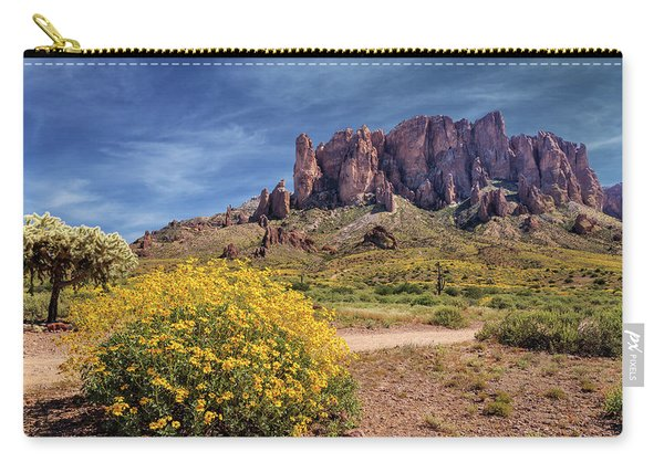 Springtime In The Superstition Mountains Carry-all Pouch