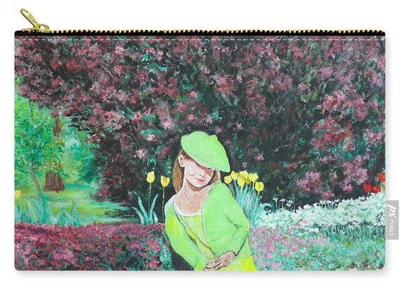 Springtime On Iris Carry-all Pouch