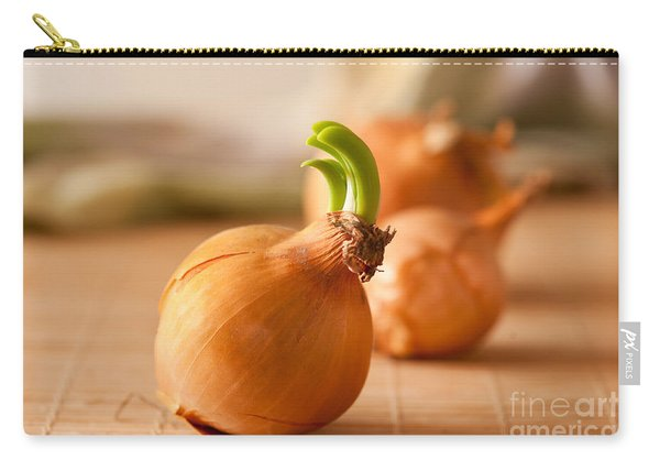 Sprouting Onion Lying On Mat Carry-all Pouch
