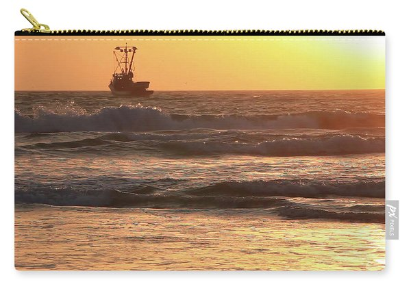 Squid Boat Golden Sunset Carry-all Pouch
