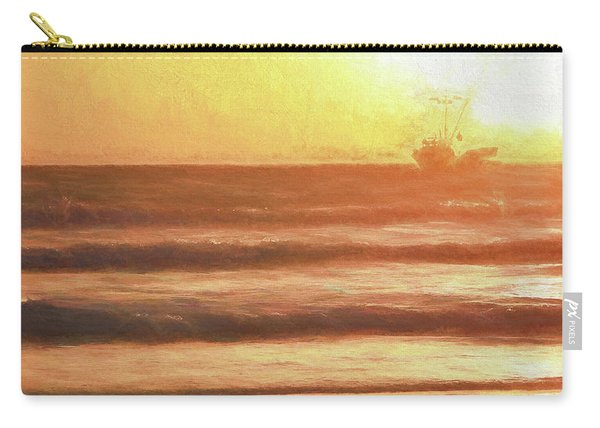 Squid Boat Sunset Carry-all Pouch