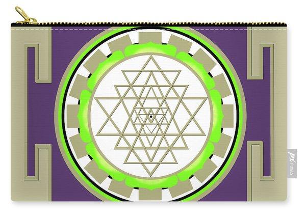 Sri Yantra Of Prosperity Carry-all Pouch