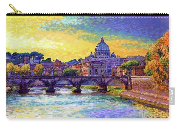 St Angelo Bridge Ponte St Angelo Rome Carry-all Pouch