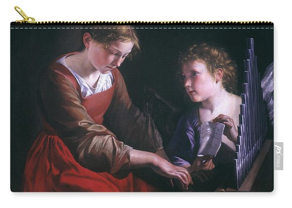 St. Cecilia And An Angel Carry-all Pouch