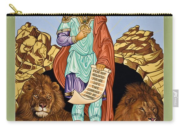St. Daniel In The Lion's Den - Lwdld Carry-all Pouch