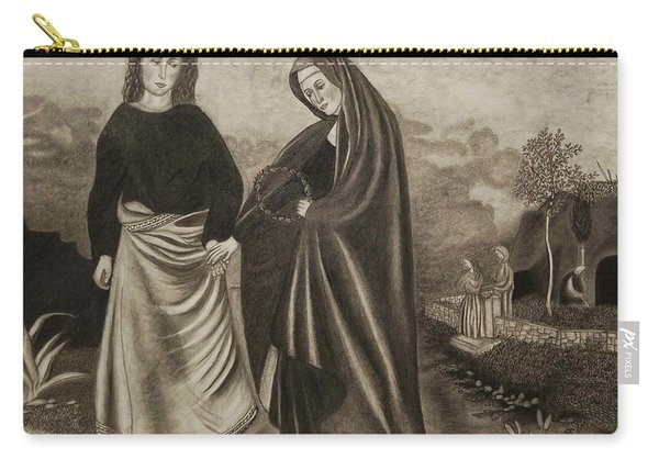 St. John And Blessed Mother At The Tomb Carry-all Pouch