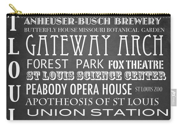 St Louis Famous Landmarks Carry-all Pouch