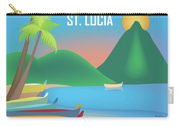 St. Lucia Horizontal Scene Carry-all Pouch