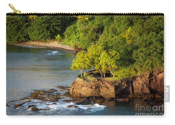 St Lucia - Trees On A Rocky Point Carry-all Pouch