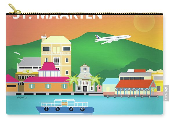 St. Maarten Horizontal Scene Carry-all Pouch